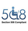 Section 508 compliant logo