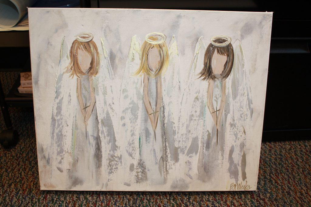 """3 Angels"" painting donated by Golden Griffin"