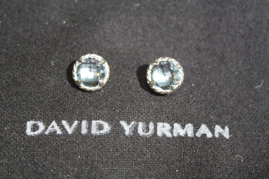 Gorgeous Blue Topaz David Yurman Earrings donated by Loring and Company