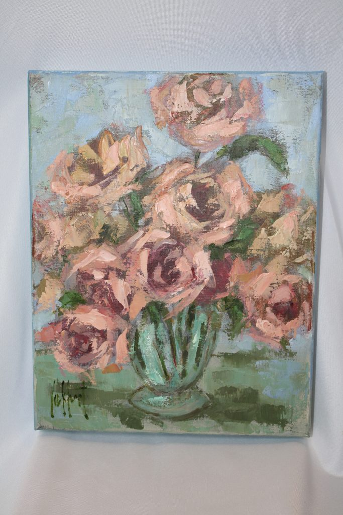 "Gorgeous painting ""Roses"" by Leslie Lockhart"