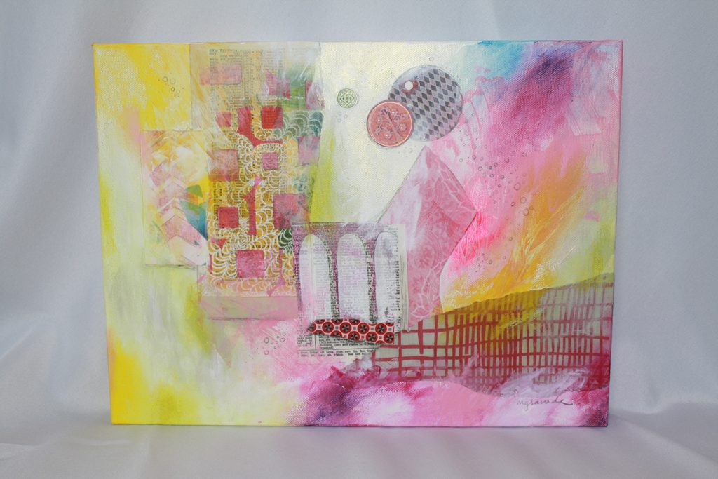 """Safe Place"" is original mixed media art, inspired by the NCAC  created by local Huntsville artist,  Misty Granade."