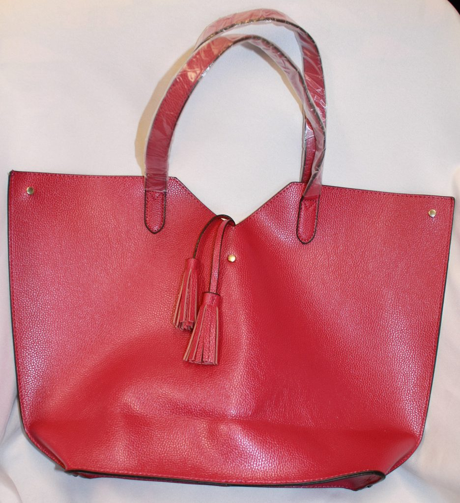 Red Leather Bag from Neiman Marcus